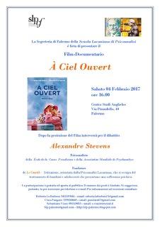 """Proiezione del Film Documentario """"A Ciel Ouvert"""""""