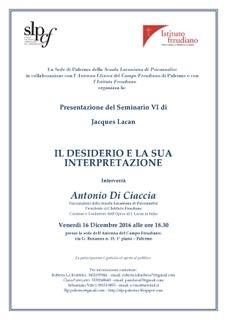 """Presentazione del libro """"Il Seminario. Libro VI. Il desiderio e la sua interpretazione"""""""