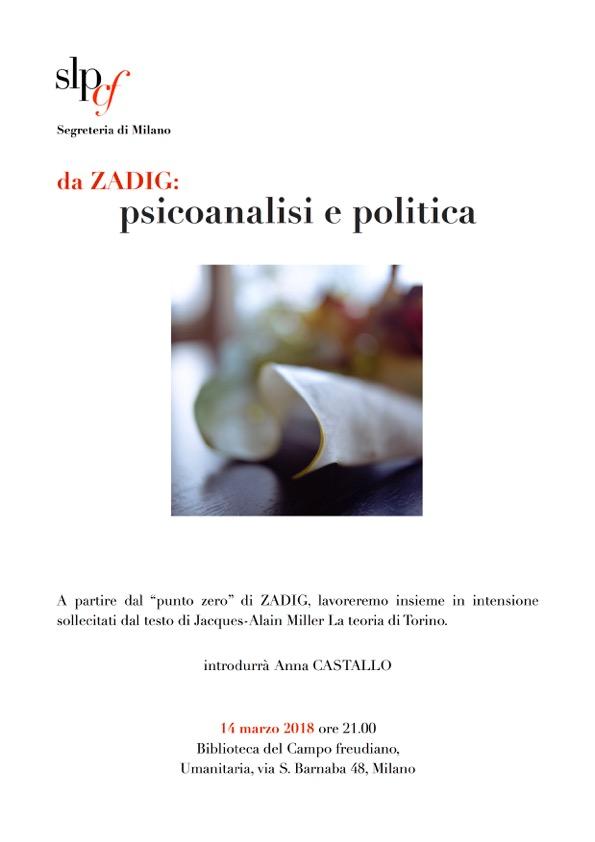 Da Zadig: psicoanalisi e politica