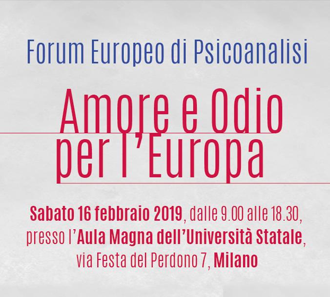 Forum Europeo: Amore e odio per Europa