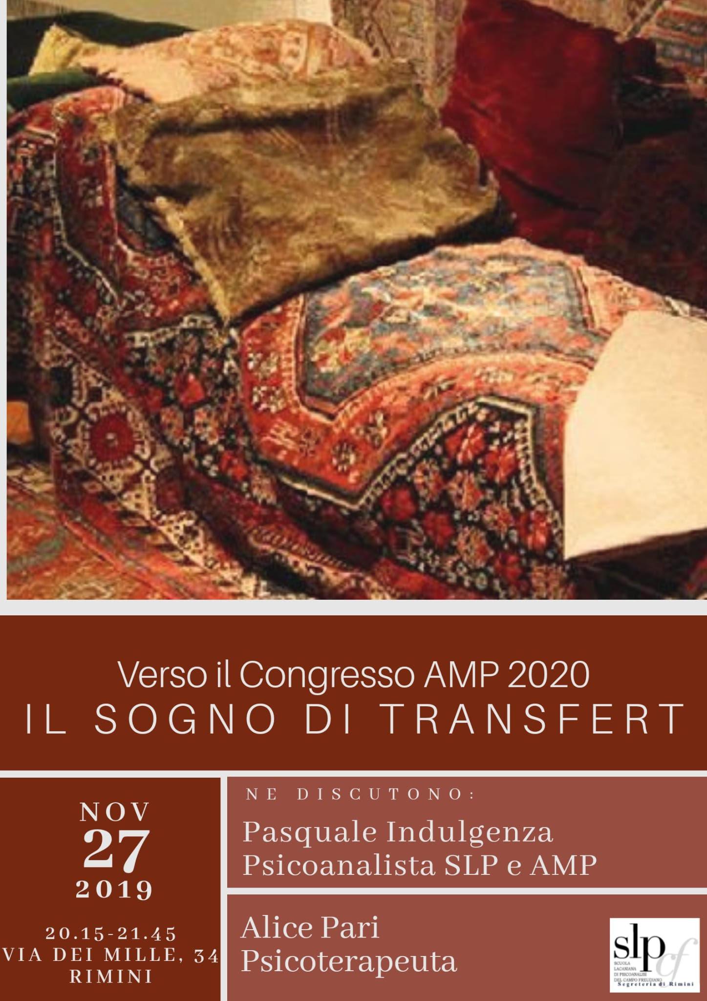 Verso il Congresso AMP 2020 - Il sogno di transfert