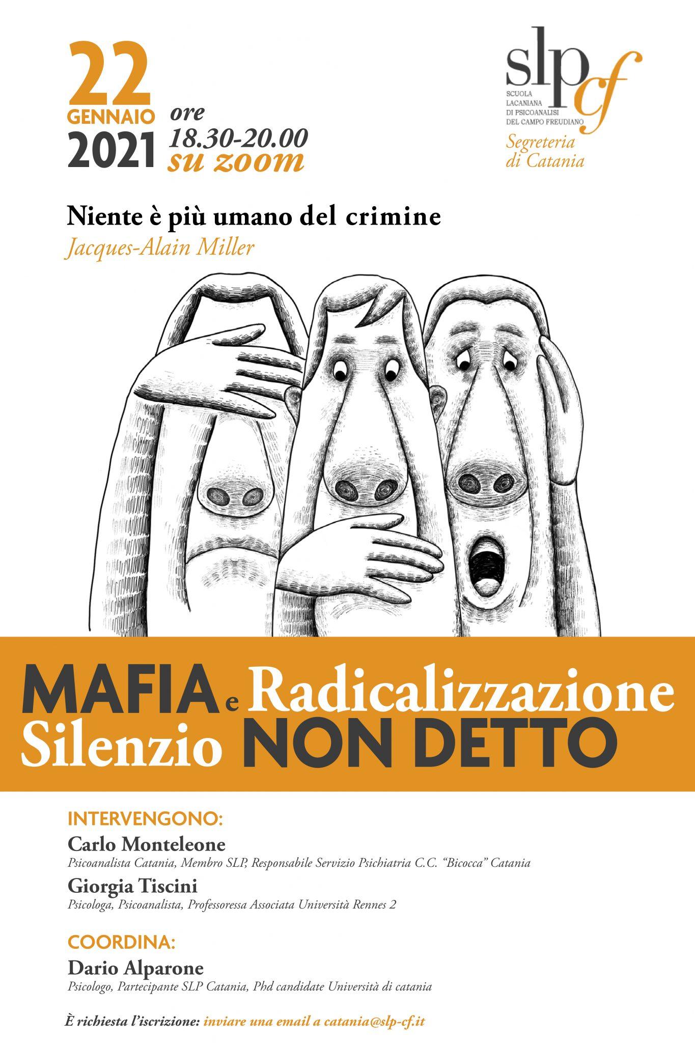 Mafia e Radicalizzazione Silenzio Non detto