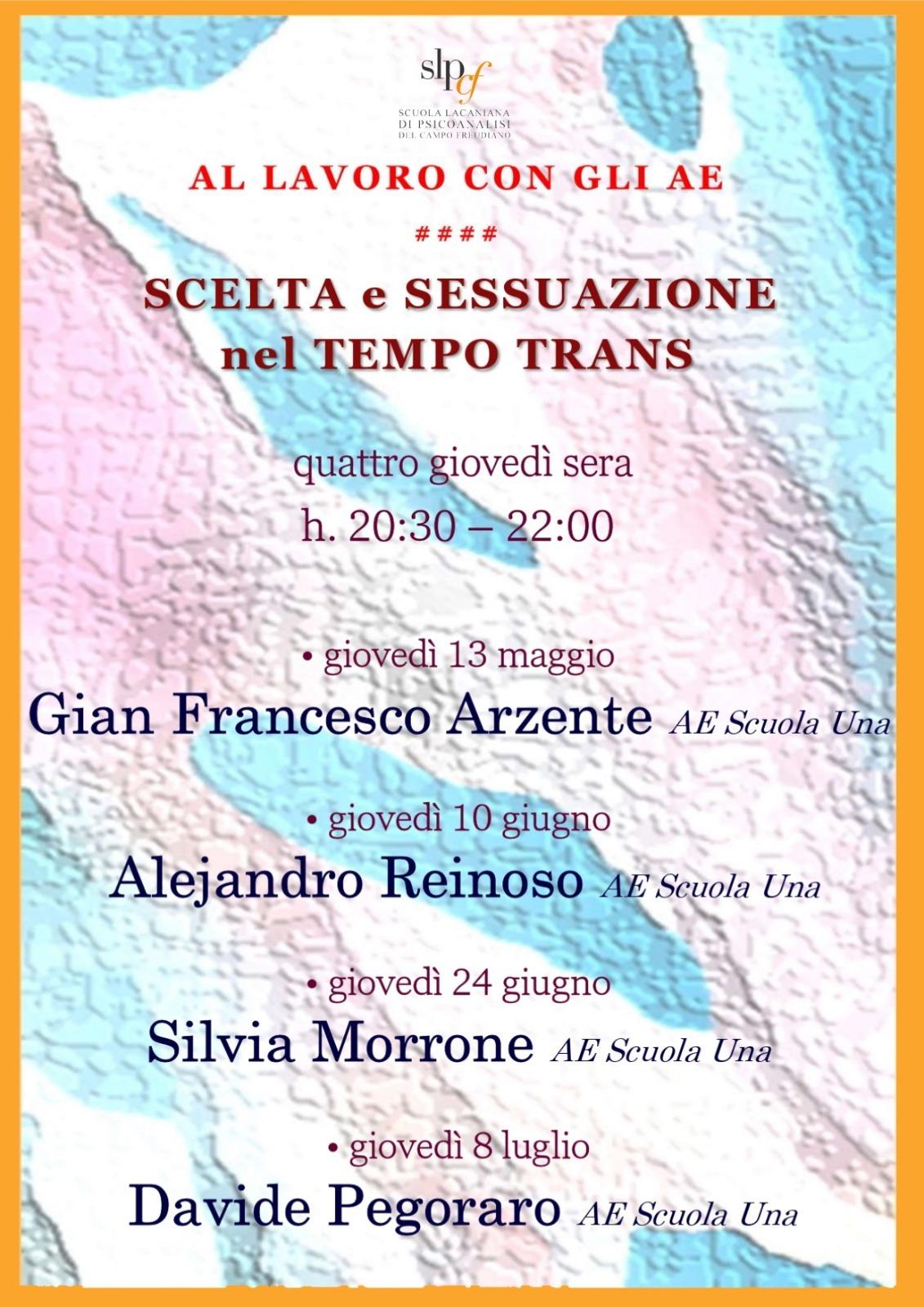 Al lavoro con gli AE - Scelta e sessuazione nel tempo trans